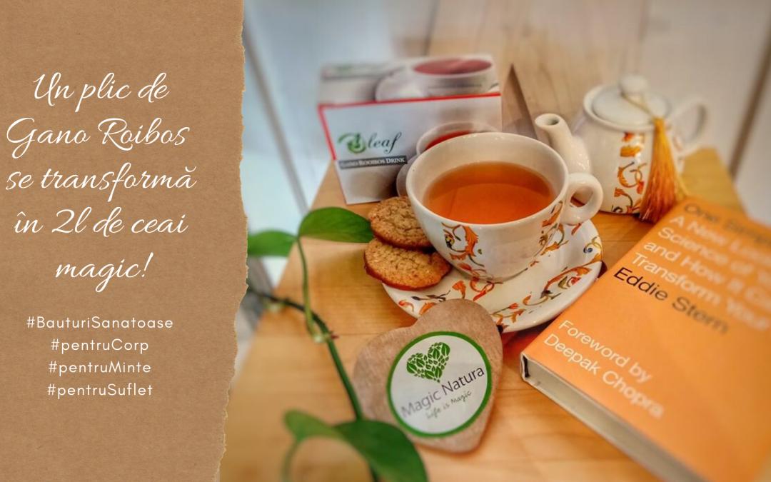 Un plic de Gano Rooibos se transformă în 2l de ceai magic!